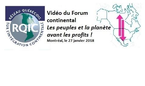 Forum - Les peuples et la planète avant les profits - le 27 janvier 2018